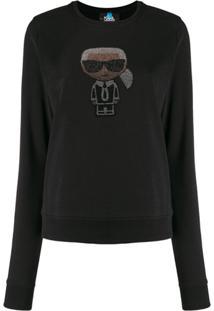 Karl Lagerfeld Moletom Ikonik Karl - Preto