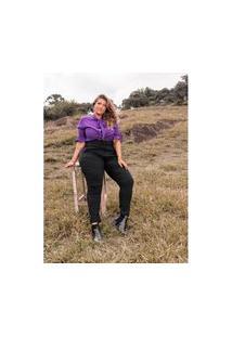 Calça Plus Size Sarja Lisa