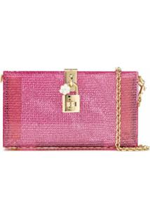 Dolce & Gabbana Clutch Com Corrente - Rosa