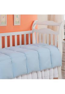Edredom Baby Pluma De Ganso 233 Fios Azul 100X140Cm Plumasul