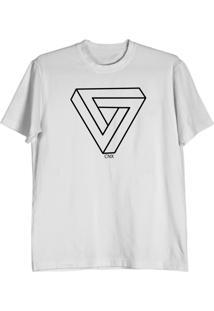 Camiseta Cnx Clothing Triângulo Branca