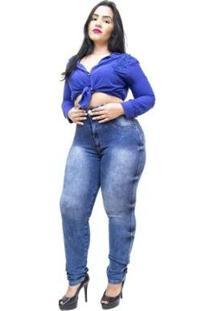 Calça Jeans Latitude Plus Size Skinny Fyama Feminina - Feminino