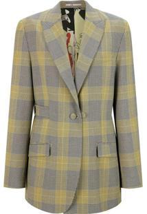 Portspure Blazer Xadrez Prince Of Wales - Amarelo