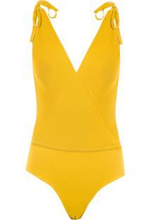Egrey Body Com Amarração - Amarelo