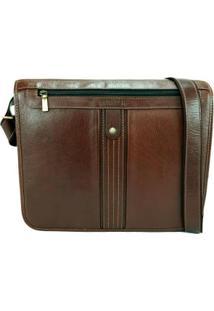 Bolsa Carteiro Masculina Para Notebook Em Couro 50006