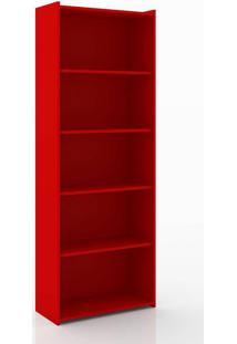 Estante Para Livros Esm 201 Vermelho - Movel Bento