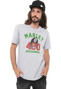 Camiseta New Era Universal Bob Marley Cinza