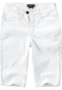 Bermuda Slim Em Sarja Malwee Branco - 52