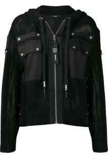 Diesel Hooded Net Jacket - Preto