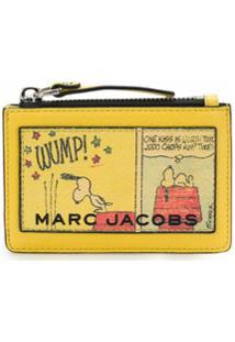 Marc Jacobs Carteira Peanuts Com Zíper - Amarelo