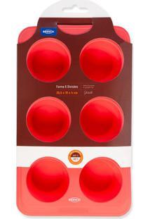 Forma Com 6 Divisões Glace Vermelha