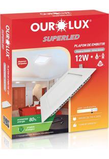 Plafon Quadrado Embutir Branco (6400 K 12W)