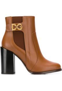 Dolce & Gabbana Ankle Boot Dg - Marrom
