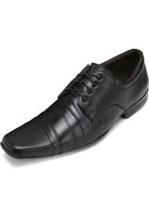 Sapato Focal Flex Couro Ff18-8240 Preto