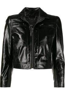 Givenchy Fitted Leather Jacket - Preto