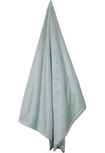 Cobertor Em Microfibra Flannel Loft Casal- Verde Água