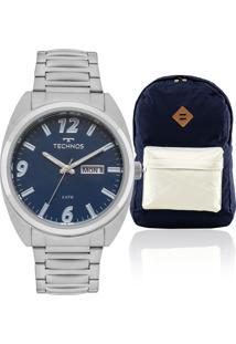 e7ae06226bf ... Kit Relógio Masculino Technos Com Mochila Ocean