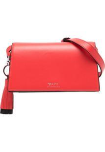Bapy By *A Bathing Ape® Bolsa Tiracolo De Couro Com Logo - Vermelho
