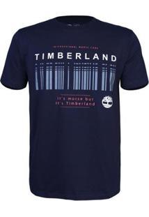 Camiseta Timberland Masculina Morse Code - Masculino-Marinho+Branco