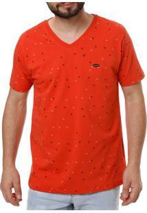 Camiseta Manga Curta Masculina No Stress Coral