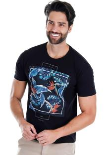 Camiseta Masculina Onnes - Preto