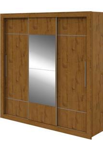 Guarda-Roupa Vicenza Com Espelho - 3 Portas - Rovere Soft