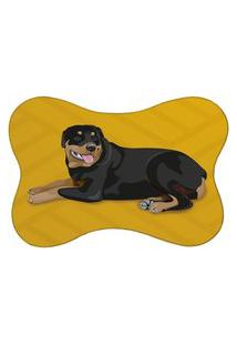 Tapete Pet Rottweiler Amarelo 46X33Cm