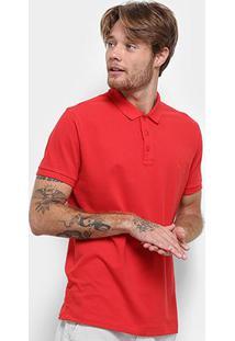 Camisa Polo Reserva Piquet Básica Masculina - Masculino-Vermelho