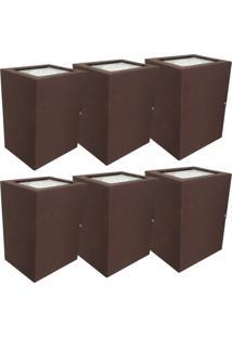 Arandela Premium Marrom Kit Com 6 Casah - Marrom - Dafiti