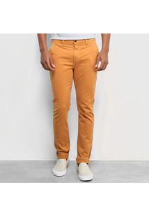 Calça Sarja Skinny Calvin Klein Masculina - Masculino-Marrom Claro