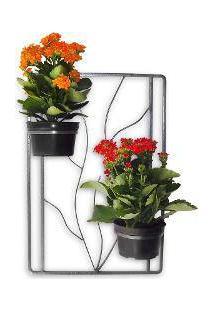 Floreira De Parede Para Jardim Vertical Em Aço Com Vasos