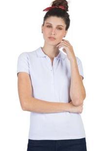 Polo Taco Básica Feminino - Feminino-Branco