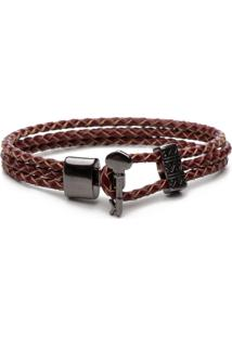 Pulseira Key Design De Niro Leather - Vermelha