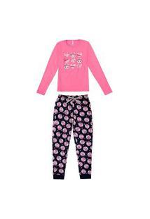 Pijama Feminino Malwee 1000077260 Rosa