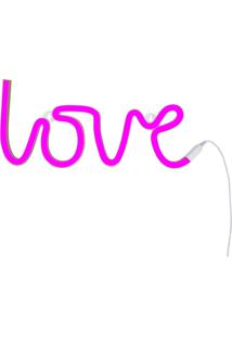 Luminária Neon Adoraria Love Rosa