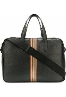 Paul Smith Bright Stripe Holdall Bag - Preto