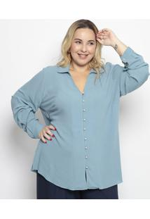 Camisa Lisa- Azul Claro- Pianetapianeta