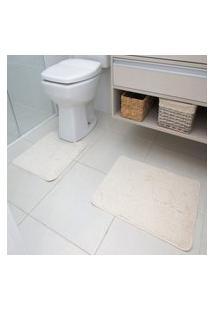 Jogo Tapetes Para Banheiro Astra 2 Peças Algodão