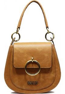 Bolsa Em Couro Recuo Fashion Bag Transversal Caramelo