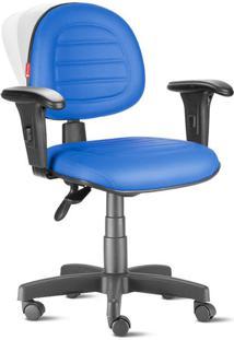 Cadeira Ergonômica Nr17 Executiva Costura Azul Royal