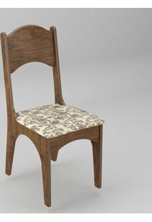 Cadeira Estofada - Nobre/Floral Claro
