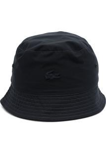 Chapéu Lacoste Bucket Azul-Marinho