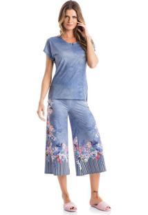 Pijama Amanda Pantacourt Azul/P