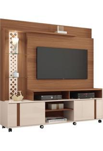 Estante Home Theater Para Tv Até 55 Pol. Vitral Nature Off White Hb Móveis