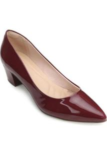 Scarpin Lady Queen - Feminino-Bordô