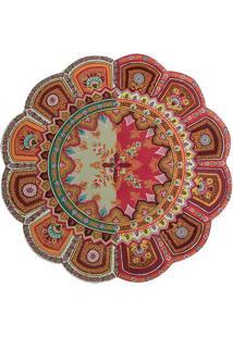 Sousplat Mandala- Laranja & Vermelho Escuro- 0,3Xã˜38Btc Decor