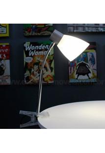 Luminária De Mesa Garra Com Lâmpada De Led Inclusa 3W Cúpula Bivolt - Unissex