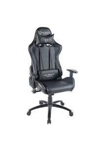 Cadeira Gamer Husky Gaming Storm, Preto, Com Almofadas, Reclinável, Descanso De Braço 2D - Hst-Bk