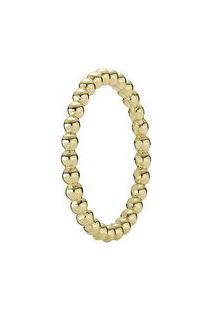 Anel Mini Pontos- Dourado- Tamanho 58 = 18- Pandpandora