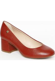 Sapato Tradicional Em Couro Liso- Vermelho Escuro- Sloucos E Santos